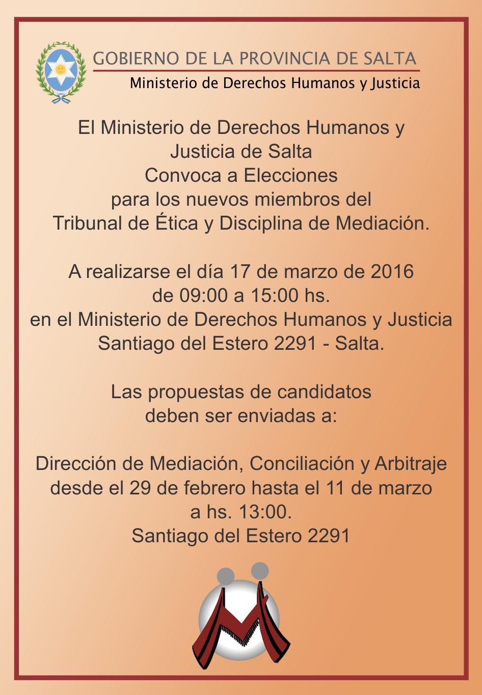 Ministerio de derechos humanos y justicia inicio for Ministerio de interior elecciones 2016